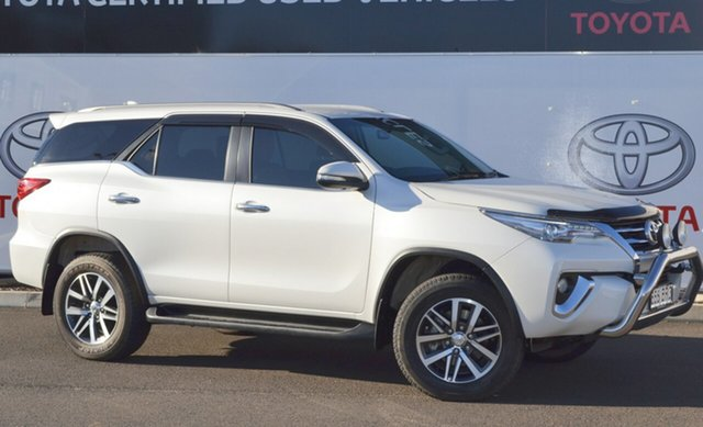 Pre-Owned Toyota Fortuner GUN156R Crusade Warwick, 2015 Toyota Fortuner GUN156R Crusade Crystal Pearl 6 Speed Automatic Wagon