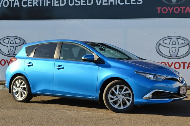 Pre-Owned Toyota Corolla ZRE182R MY15 Ascent Sport Warwick, 2015 Toyota Corolla ZRE182R MY15 Ascent Sport Blue Gem 7 Speed CVT Auto Sequential Hatchback