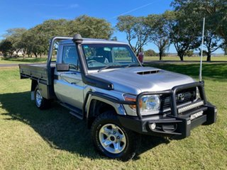 2017 Toyota Landcruiser VDJ79R GX Silver Pearl 5 Speed Manual Cab Chassis.