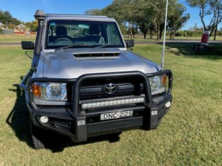 2017 Toyota Landcruiser VDJ79R GX Silver Pearl 5 Speed Manual Cab Chassis