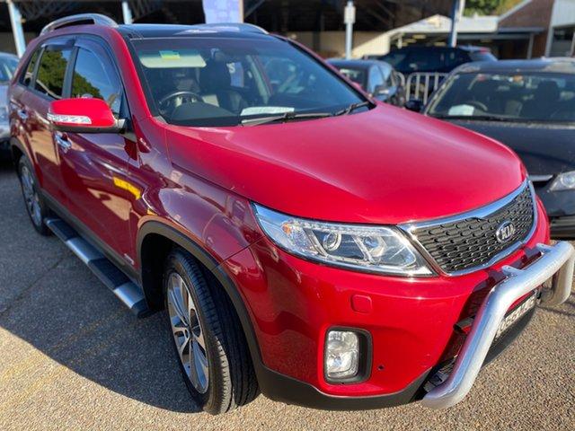 Used Kia Sorento XM MY14 Platinum 4WD Wickham, 2014 Kia Sorento XM MY14 Platinum 4WD Red 6 Speed Sports Automatic Wagon