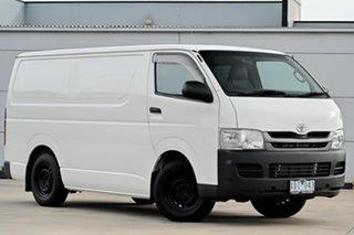 2009 Toyota HiAce TRH201R MY08 LWB White 5 Speed Manual Van.