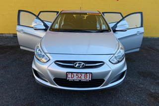 2016 Hyundai Accent Silver 6 Speed Automatic Sedan.
