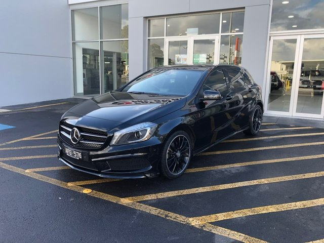 Used Mercedes-Benz A-Class W176 806MY A200 DCT Epsom, 2015 Mercedes-Benz A-Class W176 806MY A200 DCT Black 7 Speed Sports Automatic Dual Clutch Hatchback