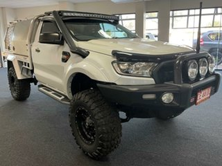 2016 Ford Ranger PX MkII XL Plus White 6 Speed Sports Automatic Cab Chassis.