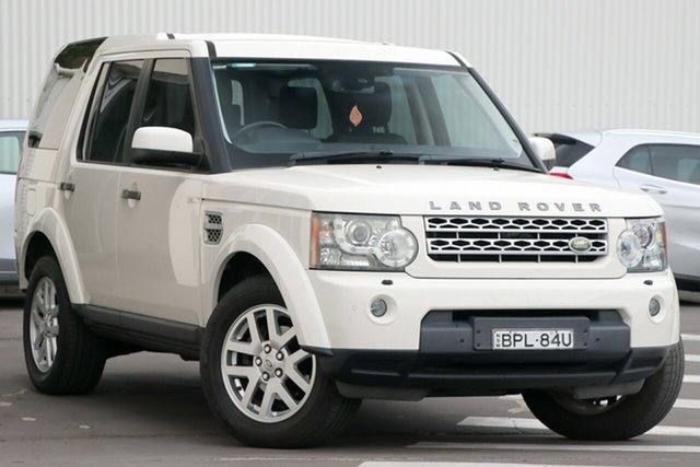 Used Land Rover Discovery 4 Series 4 10MY TdV6 CommandShift Wollongong, 2010 Land Rover Discovery 4 Series 4 10MY TdV6 CommandShift White 6 Speed Sports Automatic Wagon