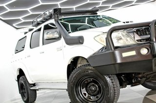 2009 Toyota Hilux KUN26R 09 Upgrade SR5 (4x4) White 4 Speed Automatic Dual Cab Pick-up.