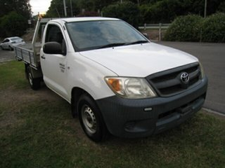 2007 Toyota Hilux TGN16R 06 Upgrade Workmate White 5 Speed Manual Cab Chassis