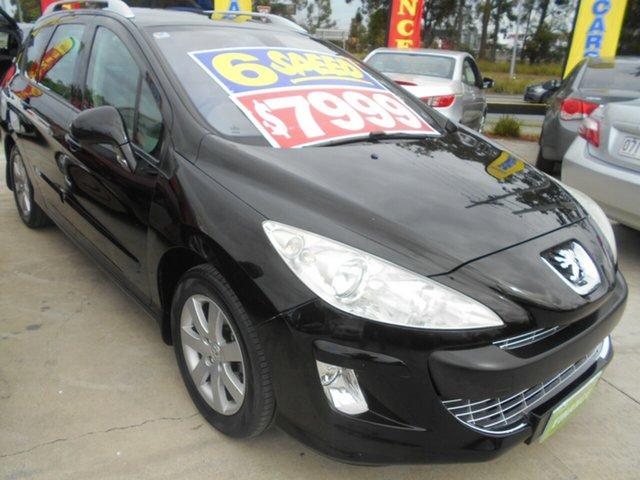 Used Peugeot 308 T7 XSE Touring Springwood, 2011 Peugeot 308 T7 XSE Touring Black 6 Speed Manual Wagon