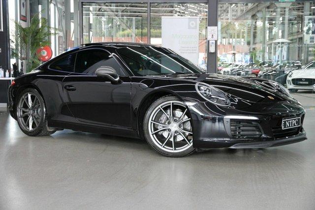 Used Porsche 911 991 MY18 Carrera T PDK North Melbourne, 2018 Porsche 911 991 MY18 Carrera T PDK Black 7 Speed Sports Automatic Dual Clutch Coupe