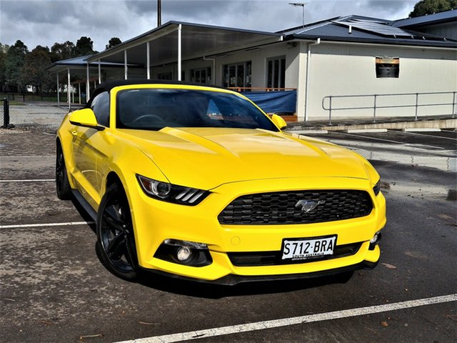Used Ford Mustang FM 2017MY SelectShift St Marys, 2017 Ford Mustang FM 2017MY SelectShift Yellow 6 Speed Sports Automatic Convertible