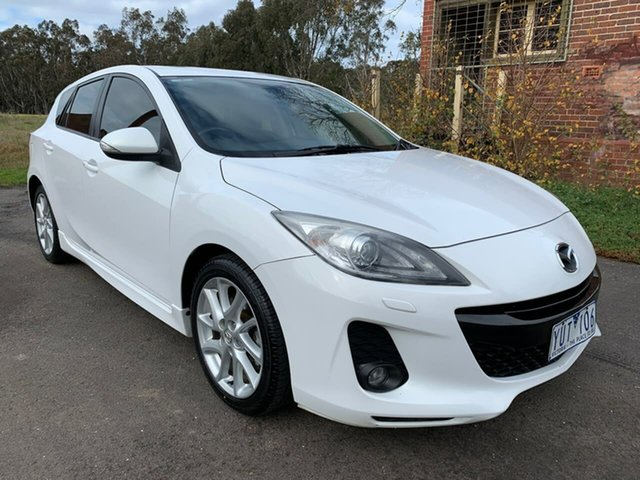 Used Mazda 3 SP25 Geelong, 2011 Mazda 3 BL Series 1 SP25 White Sports Automatic Hatchback