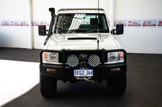 2012 Toyota Landcruiser VDJ79R MY12 Update Workmate (4x4) French Vanilla 5 Speed Manual Cab Chassis.