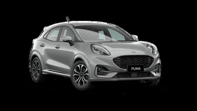 Demo Ford Puma JK 2021.25MY ST-Line Hamilton, 2020 Ford Puma JK 2021.25MY ST-Line Solar Silver 7 Speed Sports Automatic Dual Clutch Wagon