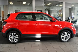 2021 Volkswagen T-Cross C1 MY21 85TSI DSG FWD Style Flash Red 7 Speed Sports Automatic Dual Clutch