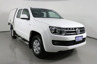 2013 Volkswagen Amarok 2H MY13 TDI420 (4x4) White 8 Speed Automatic Dual Cab Chassis.