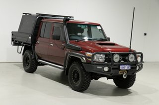 2018 Toyota Landcruiser VDJ79R GXL (4x4) Merlot 5 Speed Manual Double Cab Chassis