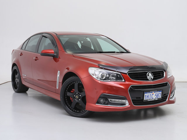 Used Holden Commodore VF MY15 SV6, 2015 Holden Commodore VF MY15 SV6 Red 6 Speed Automatic Sedan