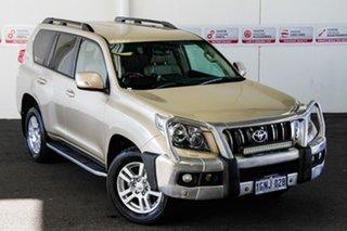 2011 Toyota Landcruiser Prado KDJ150R VX (4x4) Sandstone 5 Speed Sequential Auto Wagon.