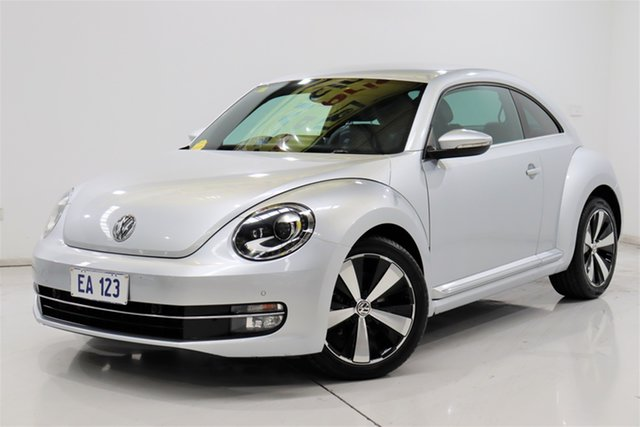 Used Volkswagen Beetle 1L MY13 Coupe DSG Brooklyn, 2013 Volkswagen Beetle 1L MY13 Coupe DSG Silver 7 Speed Sports Automatic Dual Clutch Liftback