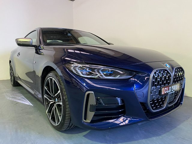 Demo BMW 4 Series G22 M440i Steptronic AWD xDrive Newcastle West, 2020 BMW 4 Series G22 M440i Steptronic AWD xDrive Tanzanite Blue 8 Speed Sports Automatic Coupe