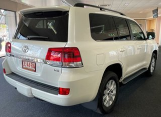2021 Toyota Landcruiser VDJ200R VX White 6 Speed Sports Automatic Wagon.