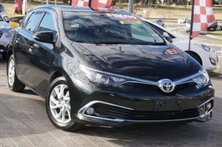 2016 Toyota Corolla ZRE182R Ascent Sport S-CVT Black 7 Speed Constant Variable Hatchback.
