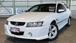 2005 Holden Crewman VZ SS White 4 Speed Automatic Utility.