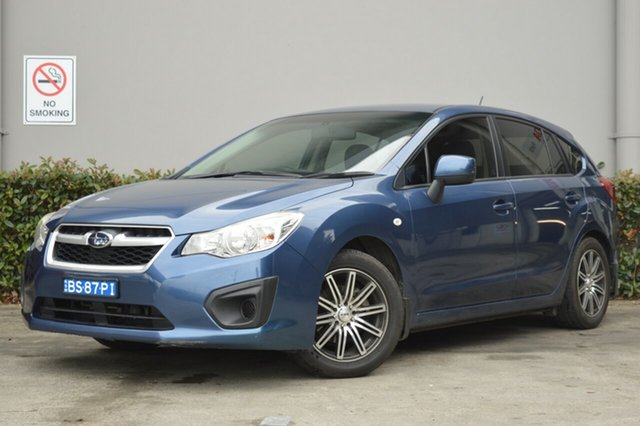 Used Subaru Impreza G4 MY12 2.0i Lineartronic AWD Maitland, 2012 Subaru Impreza G4 MY12 2.0i Lineartronic AWD Blue 6 Speed Constant Variable Hatchback