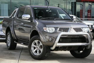 2012 Mitsubishi Triton MN MY12 GLX-R Double Cab Brown 5 Speed Manual Utility.