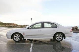 2001 Ford Falcon AU II XR6 White 4 Speed Automatic Sedan.