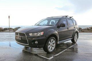 2011 Mitsubishi Outlander ZH MY11 Activ 2WD Black 6 Speed Constant Variable Wagon.