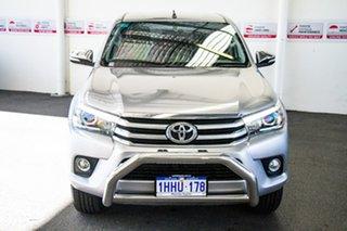 2015 Toyota Hilux GUN126R SR5 (4x4) Silver Sky 6 Speed Automatic Dual Cab Utility.