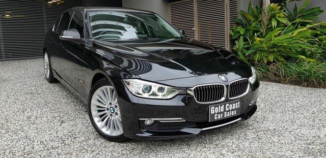 Used BMW 320d F30 MY15 Upgrade Luxury Line Southport, 2015 BMW 320d F30 MY15 Upgrade Luxury Line Black 8 Speed Automatic Sedan