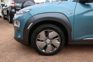 2019 Hyundai Kona OSEV.2 MY20 Elite Electric Blue 1 Speed Automatic Wagon.