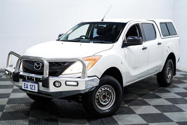 Used Mazda BT-50 UP0YF1 XT 4x2 Hi-Rider Edgewater, 2013 Mazda BT-50 UP0YF1 XT 4x2 Hi-Rider White 6 Speed Sports Automatic Utility