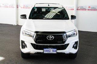 2018 Toyota Hilux GUN126R Rogue (4x4) Glacier White 6 Speed Automatic Dual Cab Utility.