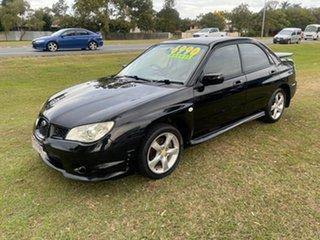 2007 Subaru Impreza S MY07 R AWD Black 5 Speed Manual Sedan.