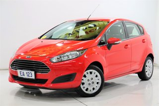 2013 Ford Fiesta WZ Ambiente PwrShift Red 6 Speed Sports Automatic Dual Clutch Hatchback.