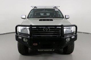 2013 Toyota Hilux KUN26R MY12 SR5 (4x4) Silver 5 Speed Manual Dual Cab Pick-up.