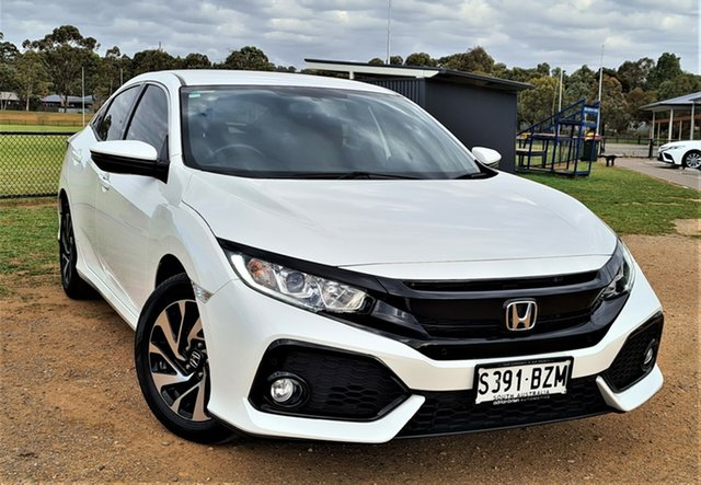 Used Honda Civic 10th Gen MY18 VTi-S St Marys, 2018 Honda Civic 10th Gen MY18 VTi-S White 1 Speed Constant Variable Hatchback