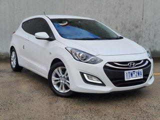 2013 Hyundai i30 GD SE Coupe White 6 Speed Sports Automatic Hatchback.