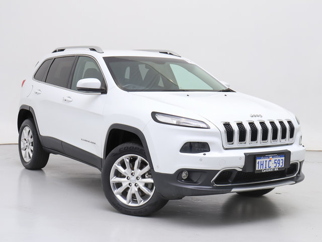 Used Jeep Cherokee KL MY15 Limited (4x4), 2015 Jeep Cherokee KL MY15 Limited (4x4) White 9 Speed Automatic Wagon