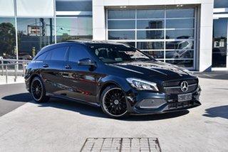 2018 Mercedes-Benz CLA-Class X117 808+058MY CLA200 Shooting Brake DCT Cosmos Black 7 Speed.