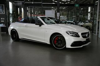 2016 Mercedes-Benz C-Class A205 C63 AMG SPEEDSHIFT MCT S White 7 Speed Sports Automatic Cabriolet.
