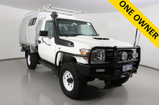 2016 Toyota Landcruiser LC70 VDJ79R MY17 Workmate (4x4) White 5 Speed Manual Cab Chassis.