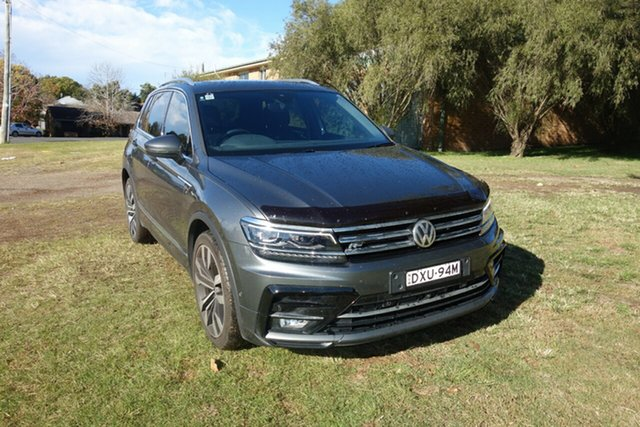 Used Volkswagen Tiguan 5N MY18 162TSI DSG 4MOTION Highline East Maitland, 2018 Volkswagen Tiguan 5N MY18 162TSI DSG 4MOTION Highline Grey 7 Speed Sports Automatic Dual Clutch