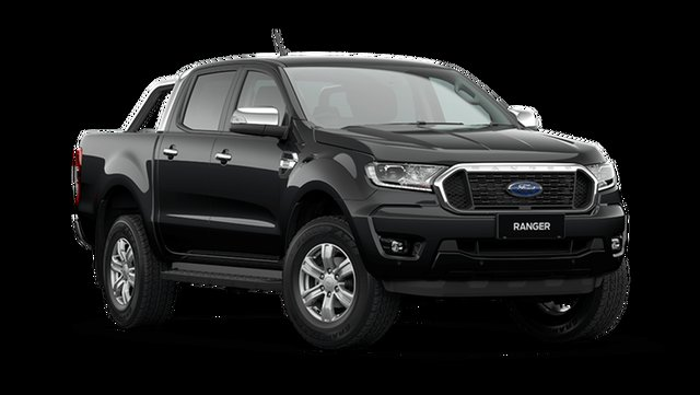 Demo Ford Ranger PX MkIII 2021.25MY XLT Cardiff, 2021 Ford Ranger PX MkIII 2021.25MY XLT Shadow Black 6 Speed Sports Automatic Double Cab Pick Up