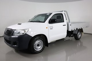 2014 Toyota Hilux KUN16R MY14 SR White 5 Speed Manual Cab Chassis.