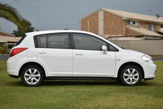2008 Nissan Tiida C11 MY07 ST-L White 4 Speed Automatic Hatchback